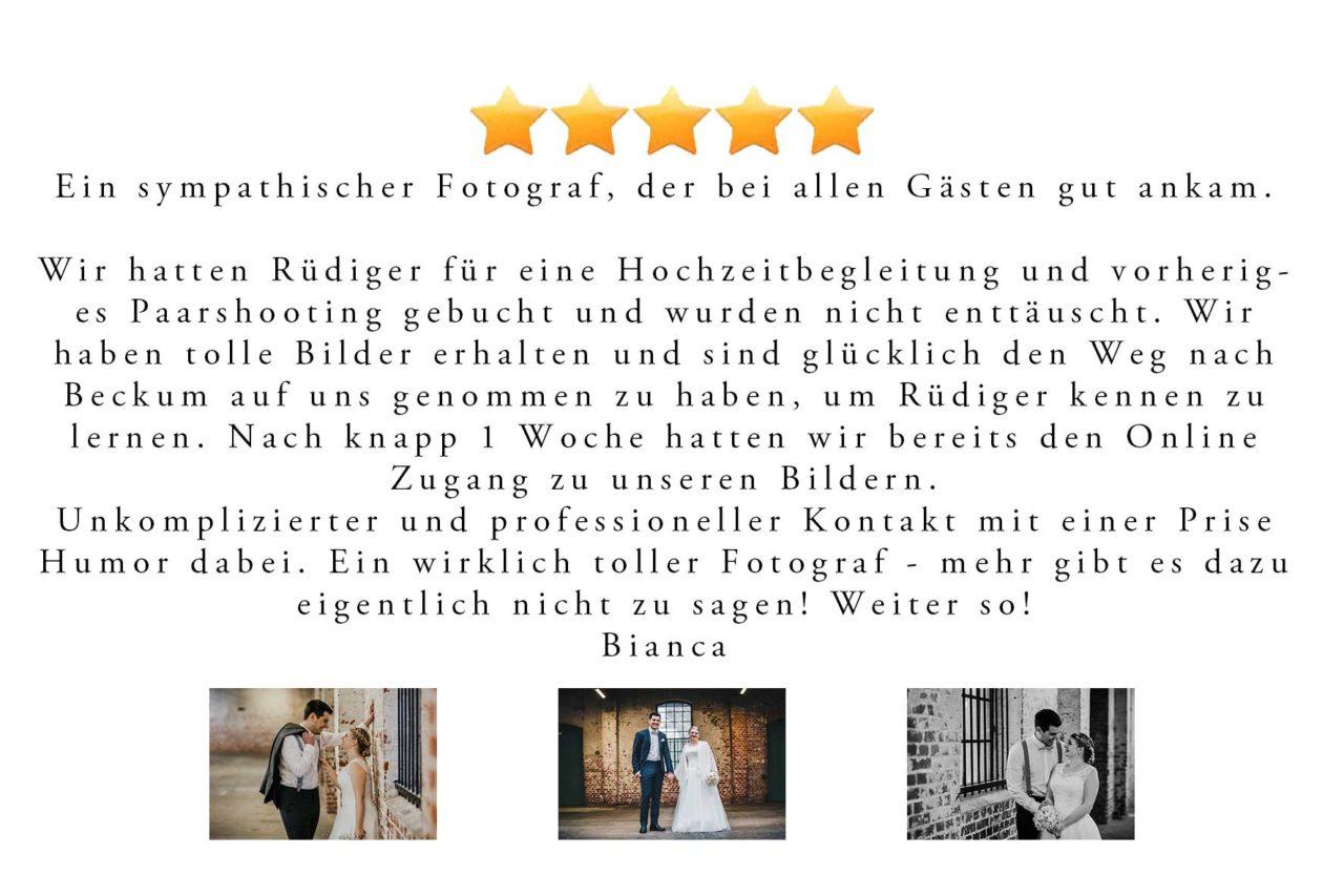 Google Hochzeitsbewertung Kundenmeinung Kundenstimme Hochzeitsfotograf Haiger Gohrmm Rued